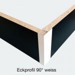 Eckprofil 90° weiss
