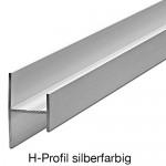 H-Profil Sockeverbinder silberfarbig